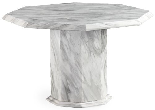Mark Harris Caceres White and Grey Marble Dining Table - 120cm Octagonal