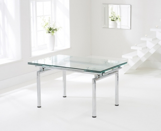 Mark Harris California 140cm Extending Glass Dining Table