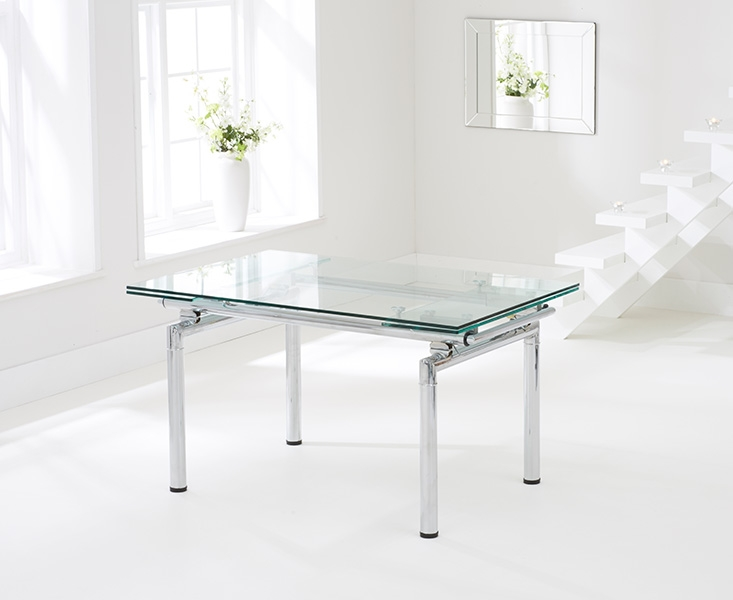 Mark Harris California Glass Dining Table - 140cm Extending