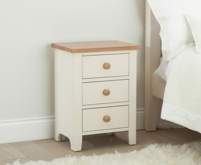 Mark Harris Camberwell Painted 3 Drawer Bedside Cabinet