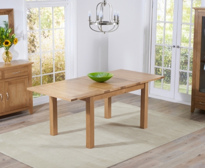 Mark Harris Cambridge Solid Oak 130cm Extending Dining Table