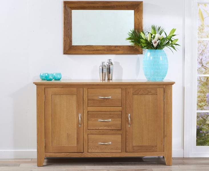 Mark Harris Cambridge Oak Sideboard - Large Wide 2 Doors 3 Drawers