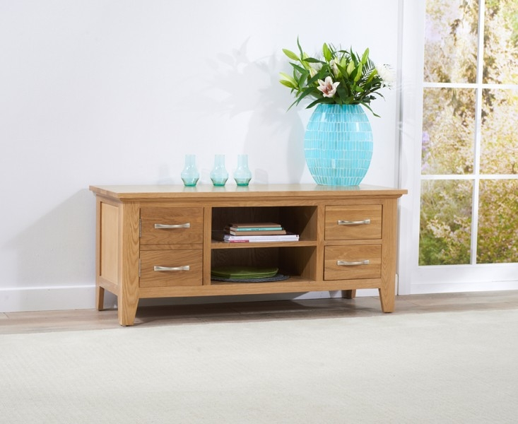 Mark Harris Cambridge Oak TV Unit - 120cm