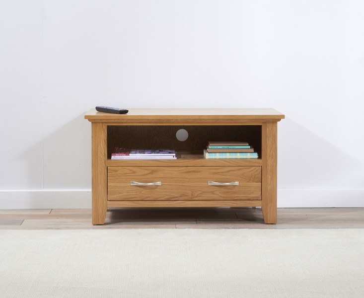 Mark Harris Cambridge Oak 1 Drawer TV Unit - 90cm