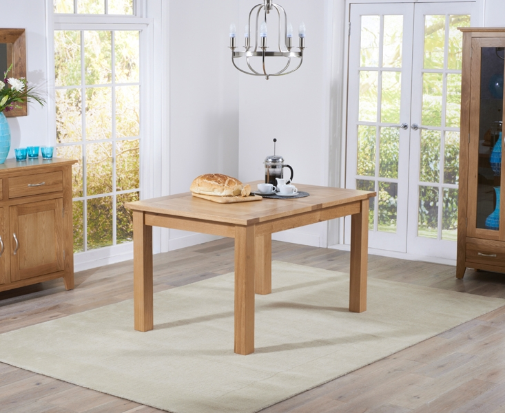 Mark Harris Cambridge Solid Oak Dining Table - 120cm Rectangular Extending