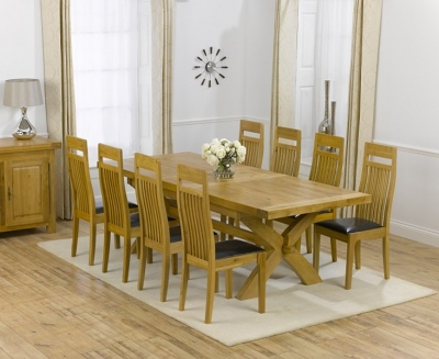 Mark Harris Canterbury Oak Dining Set - 200cm Extending with 4 Monte Carlo Brown Chairs