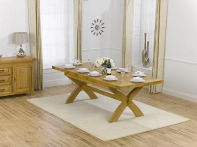 Mark Harris Canterbury Oak Rectangular Extending Dining Table - 200cm-240cm