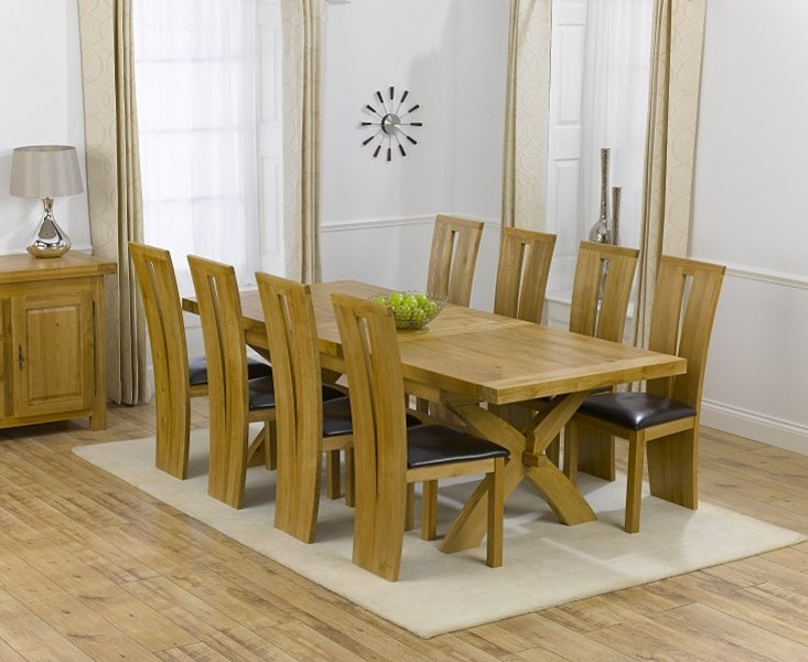 Mark Harris Canterbury Oak Dining Set - 200cm Extending with 4 Arizona Brown Chairs