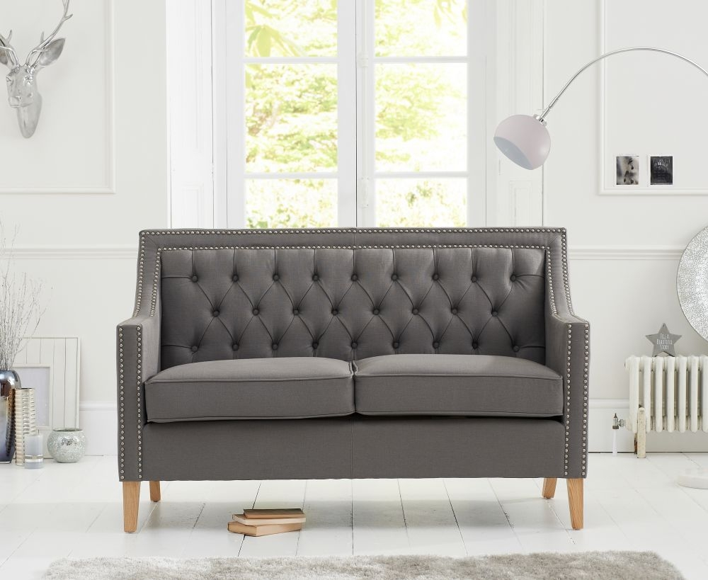 Mark Harris Casa Bella Grey Fabric 2 Seater Sofa
