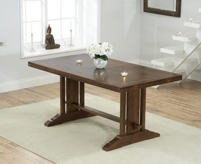 Mark Harris Cavanaugh Solid Dark Oak 165cm Extending Dining Table