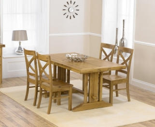 Mark Harris Cavanaugh Oak 165cm Extending Dining Table with 4 Cavanaugh Chairs