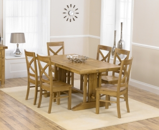 Mark Harris Cavanaugh Oak 165cm Extending Dining Table with 6 Cavanaugh Chairs