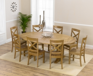 Mark Harris Cavanaugh Oak 165cm Extending Dining Table with 8 Cavanaugh Chairs