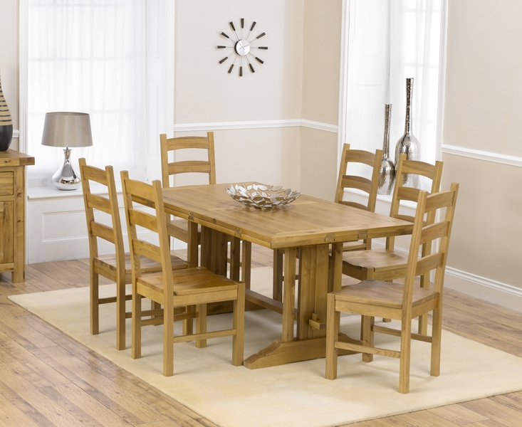 Mark Harris Cavanaugh Oak Dining Set - 165cm Rectangular Extending with 4 Valencia Timber Chairs