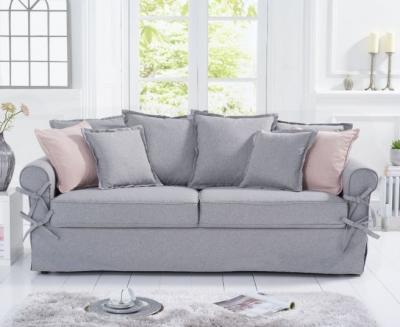 Mark Harris Celia Grey Linen 3 Seater Sofa