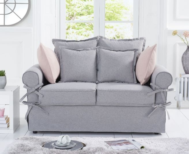 Mark Harris Celia Grey Linen 2 Seater Sofa