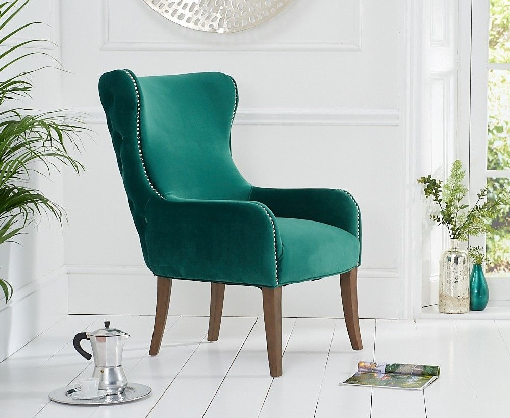 Mark Harris Lance Green Velvet Accent Chair