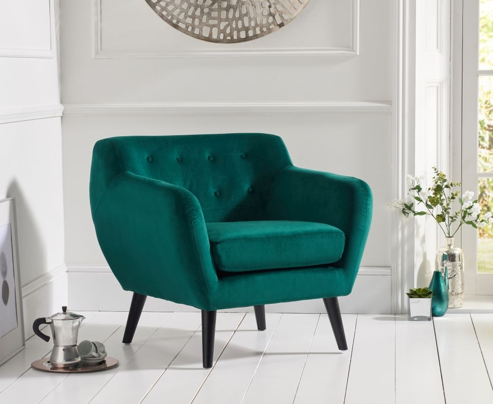 Mark Harris Tina Green Velvet Accent Chair