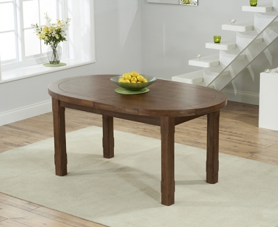 Mark Harris Cheyenne Dark Oak Oval Extending Dining Table