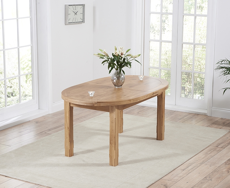 Mark Harris Cheyenne Solid Oak Dining Table - Oval Extending