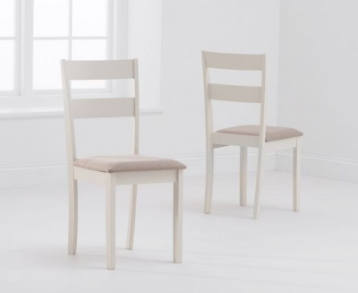 Mark Harris Chichester Cream Padded Dining Chair (Pair)