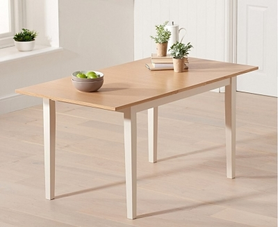 Mark Harris Chichester Oak and Cream Extending Dining Table