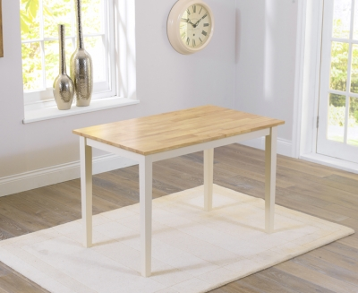 Mark Harris Chichester Oak and Cream 115cm Dining Table
