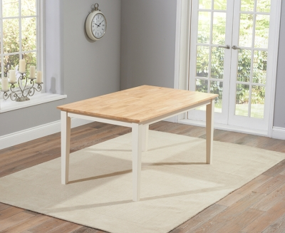 Mark Harris Chichester Oak and Cream 150cm Dining Table
