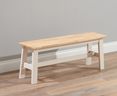 Mark Harris Chichester Large Dining Bench - Oak and Cream