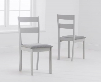 Mark Harris Chichester Grey Padded Dining Chair (Pair)