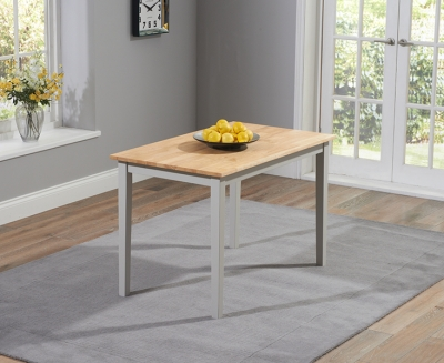 Mark Harris Chichester Dining Table - Oak and Grey