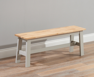 Mark Harris Chichester Oak and Grey Large Dining Bench