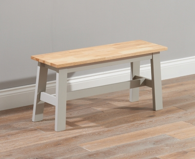 Mark Harris Chichester Dining Bench - Oak and Grey