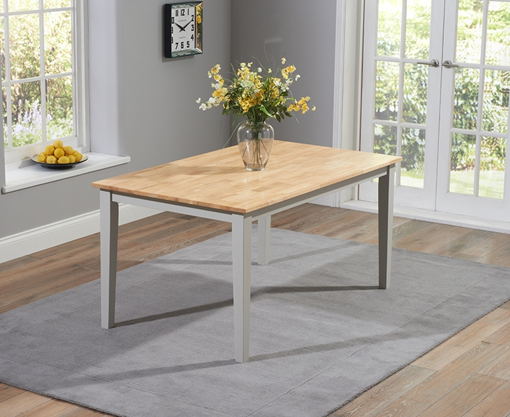 Mark Harris Chichester Large Dining Table - Oak and Grey