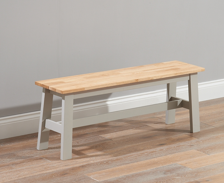 Mark Harris Chichester Large Dining Bench - Oak and Grey