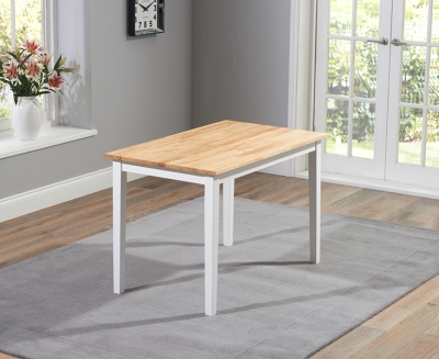 Mark Harris Chichester Oak and White 115cm Dining Table