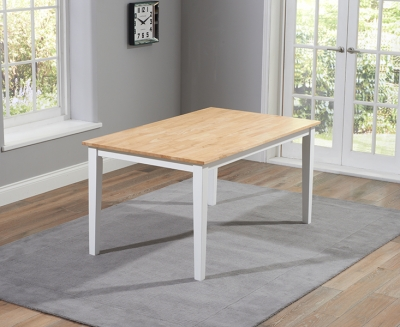 Mark Harris Chichester Oak and White 150cm Dining Table
