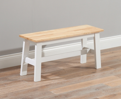 Mark Harris Chichester Small Dining Bench - Oak and White