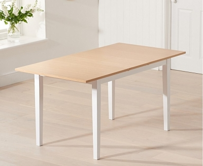 Mark Harris Chichester Oak and White Extending Dining Table