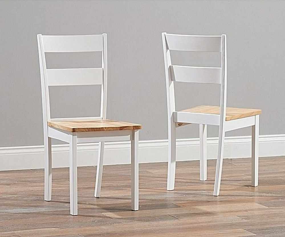 Mark Harris Chichester Dining Chair (Pair) - Oak and White