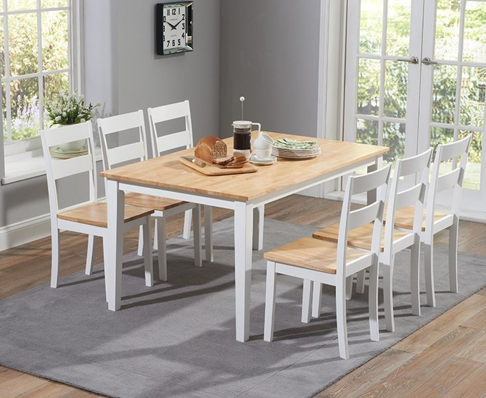 Peachy Mark Harris Chichester Large Dining Table And 6 Chairs Oak And White Ncnpc Chair Design For Home Ncnpcorg
