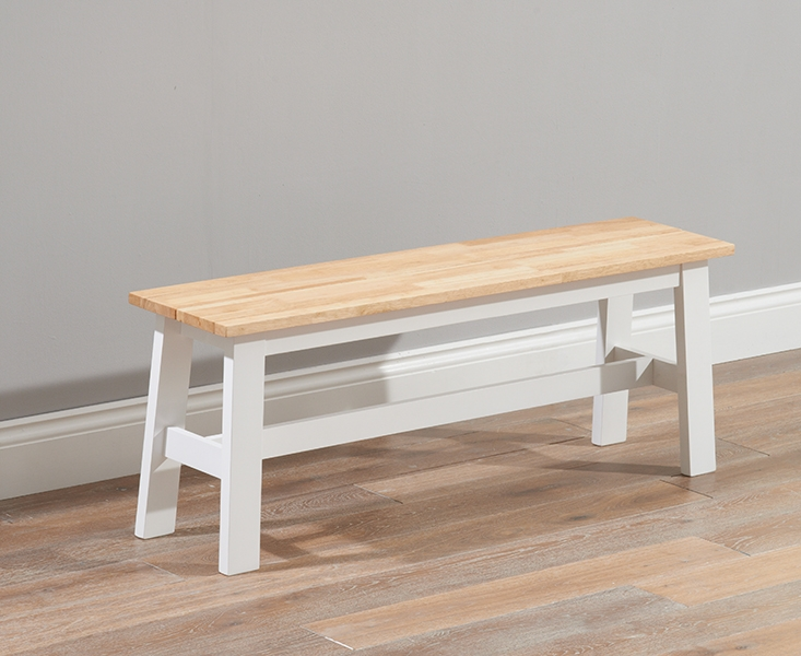 Mark Harris Chichester Large Dining Bench - Oak and White