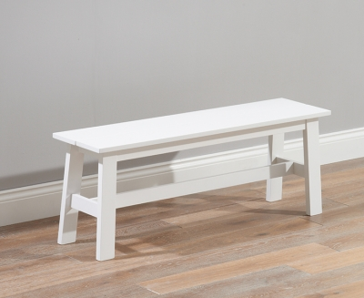 Mark Harris Chichester White Dining Bench   Large