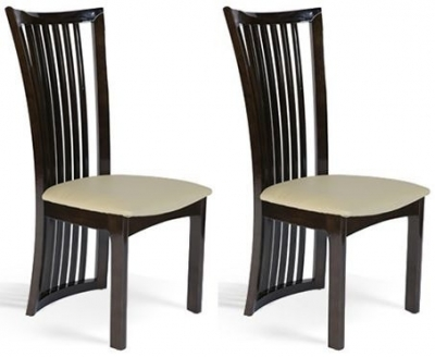 Clearance - Mark Harris Ronda Brown Dining Chair (Pair) - New - FSS9226