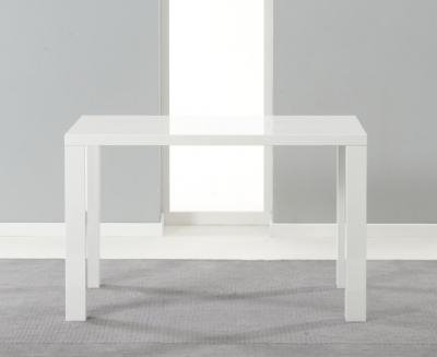Clearance Mark Harris Ava White High Gloss Dining Table - 120cm - 106