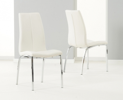 Mark Harris Carsen White Dining Chair (Pair) - 113