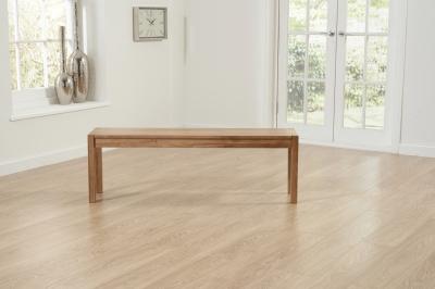 Clearance Mark Harris Promo Solid Oak Large Bench - W82