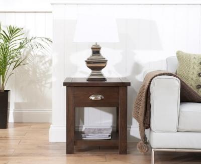 Clearance Mark Harris Sandringham Solid Dark Oak Lamp Table - G586