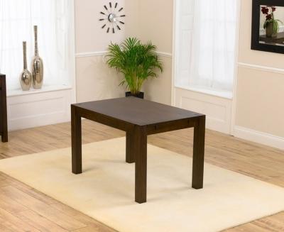 Clearance Mark Harris Verona Solid Dark Oak 120cm Dining Table - G88