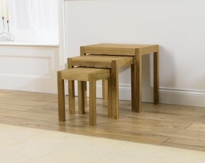 Clearance Mark Harris Verona Solid Oak Nest of Tables - G76